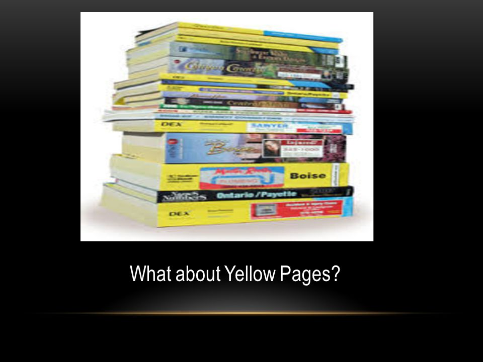 What about Yellow Pages