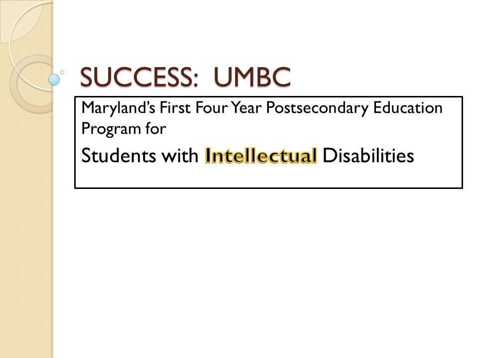 SUCCESS: UMBC