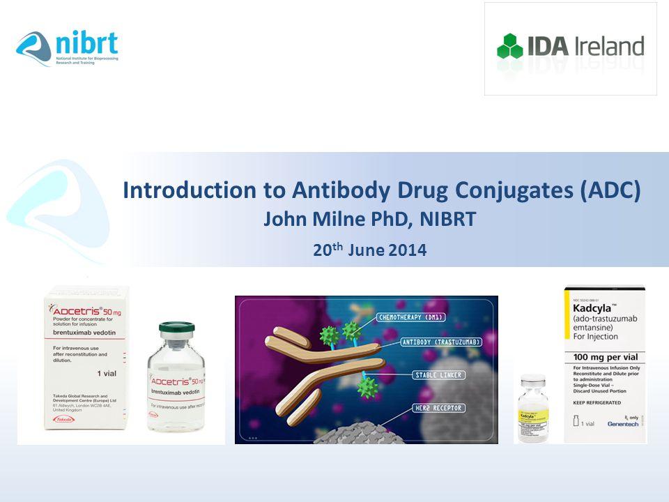Introduction to Antibody Drug Conjugates (ADC) John Milne PhD, NIBRT 20 th June 2014