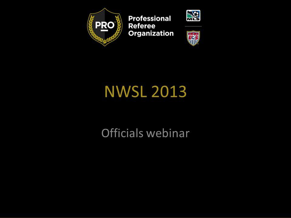 NWSL 2013 Officials webinar