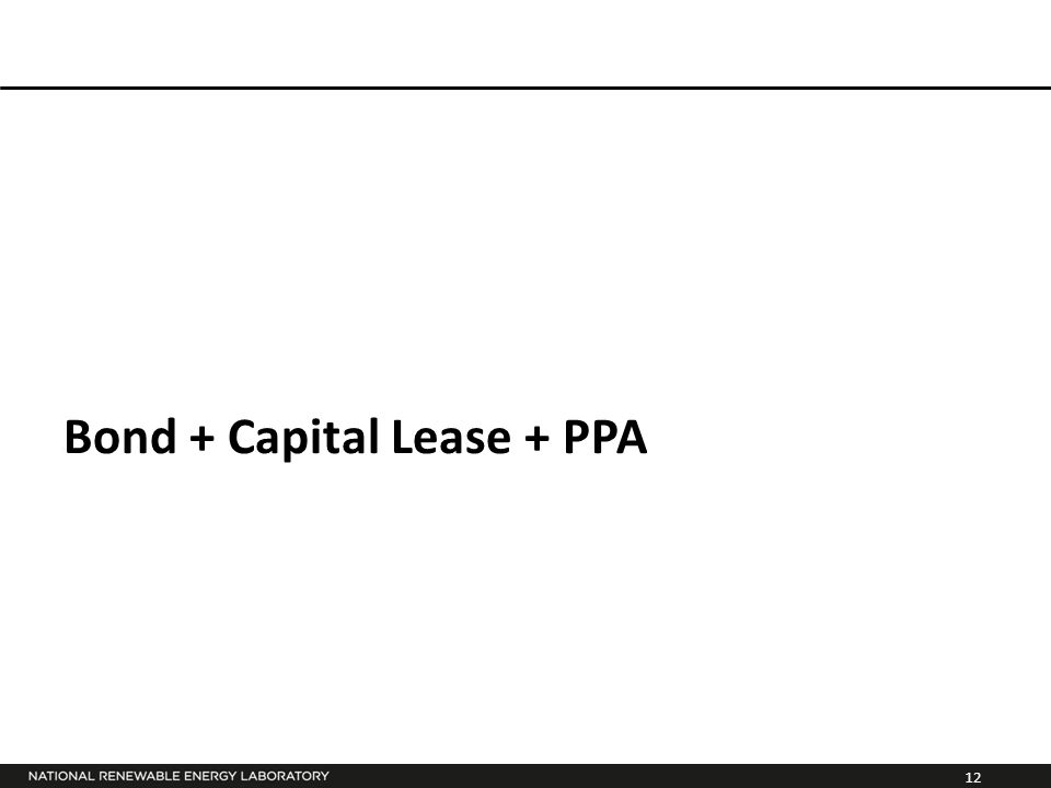 12 Bond + Capital Lease + PPA