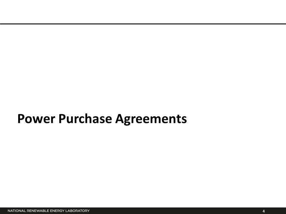 4 Power Purchase Agreements