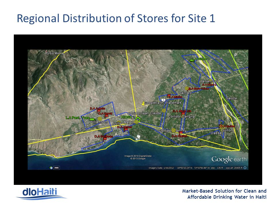 Market-Based Solution for Clean and Affordable Drinking Water in Haiti Regional Distribution of Stores for Site 1