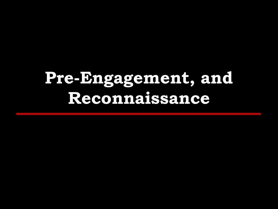 Pre-Engagement, and Reconnaissance