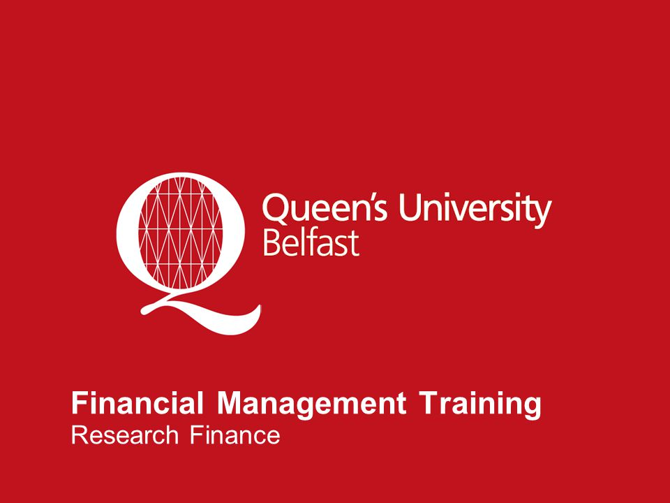 1 Financial Management Training Research Finance