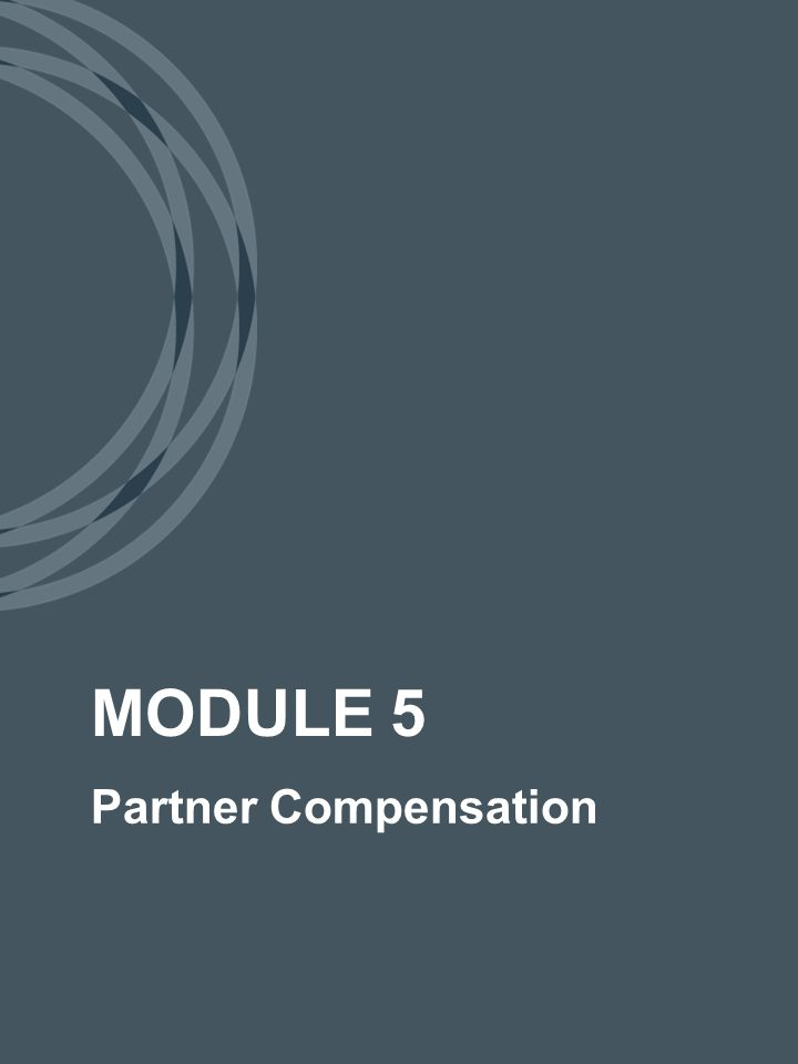 Partner Compensation 10 We're going to have a salary that compensates partners based on their job responsibilities.