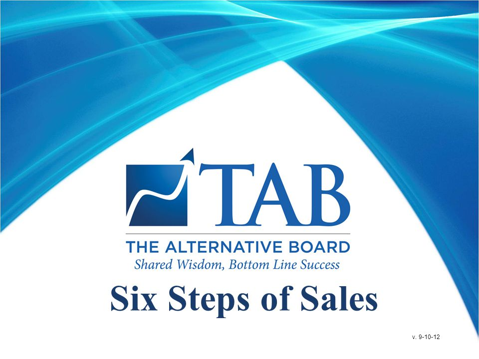 Six Steps of Sales v. 9-10-12