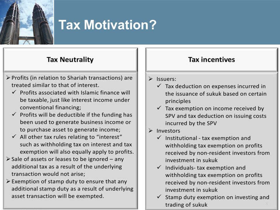 Tax Motivation? 4