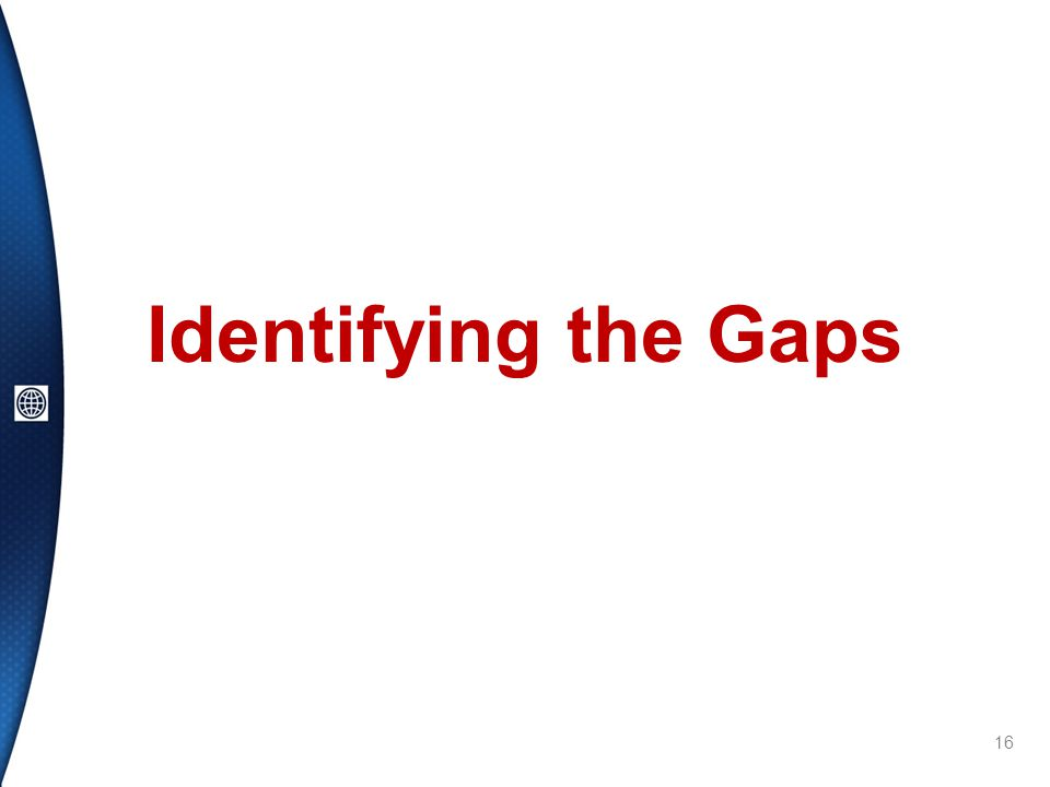 Identifying the Gaps 16