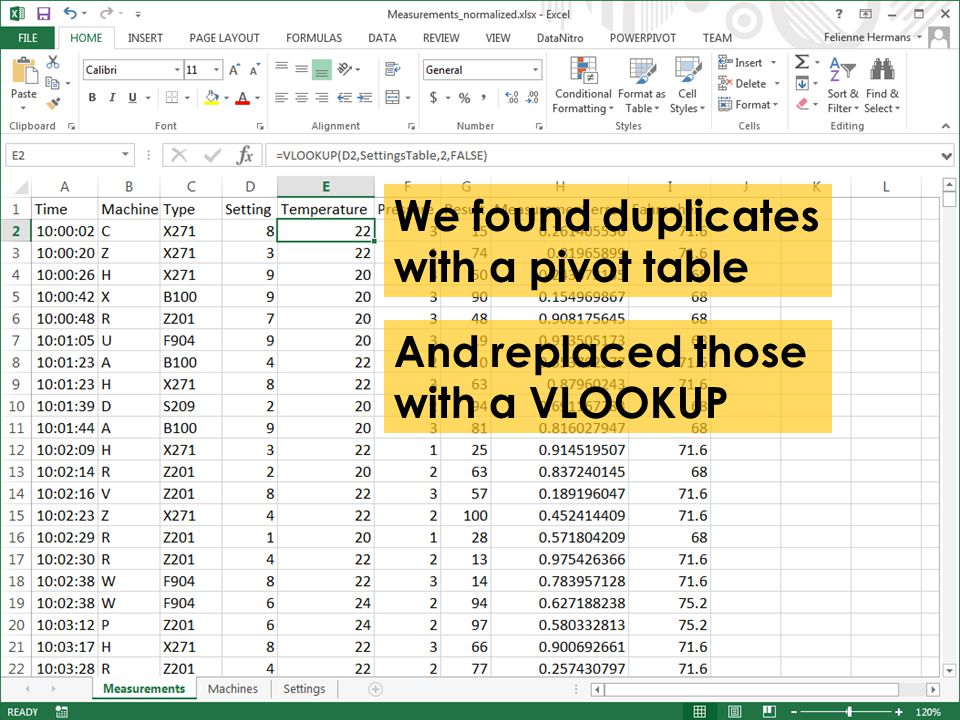 And replaced those with a VLOOKUP