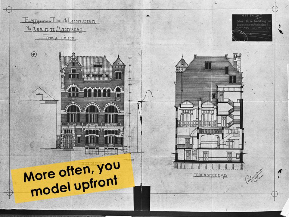 More often, you model upfront