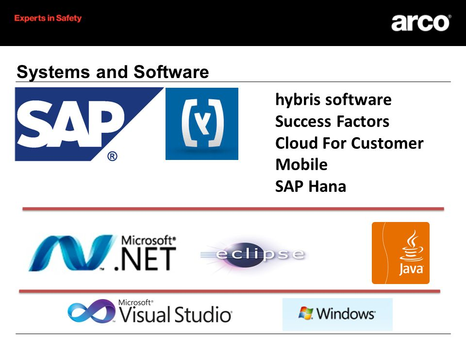 Investment in Systems eBusiness - Hybris CRM/C4C Mobile VOIP phone system MS Office 365 Supply Planning Product Lifecycle Management Business Intelligence In Memory Computing HRSF