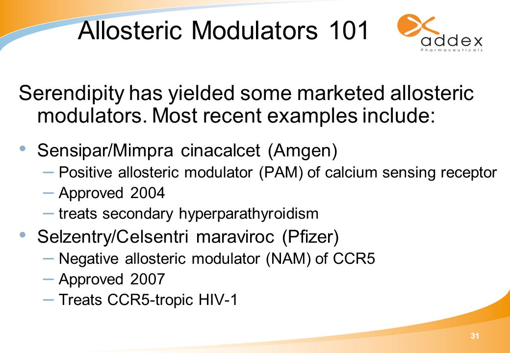 31 Serendipity has yielded some marketed allosteric modulators.