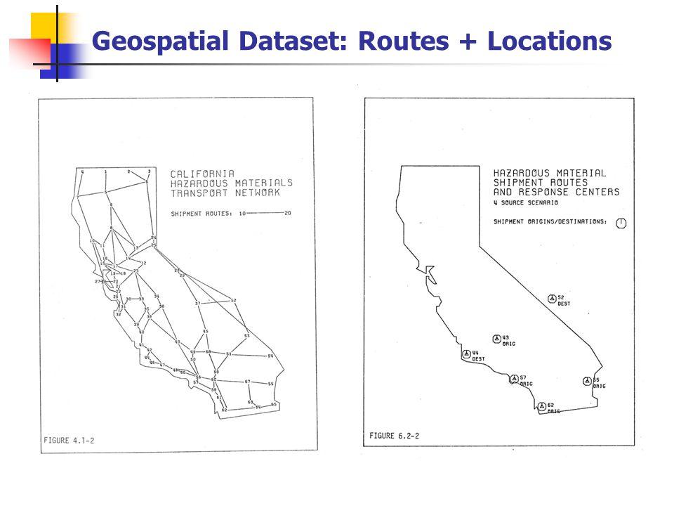 Geospatial Dataset: Routes + Locations