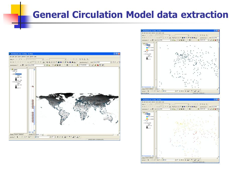 General Circulation Model data extraction