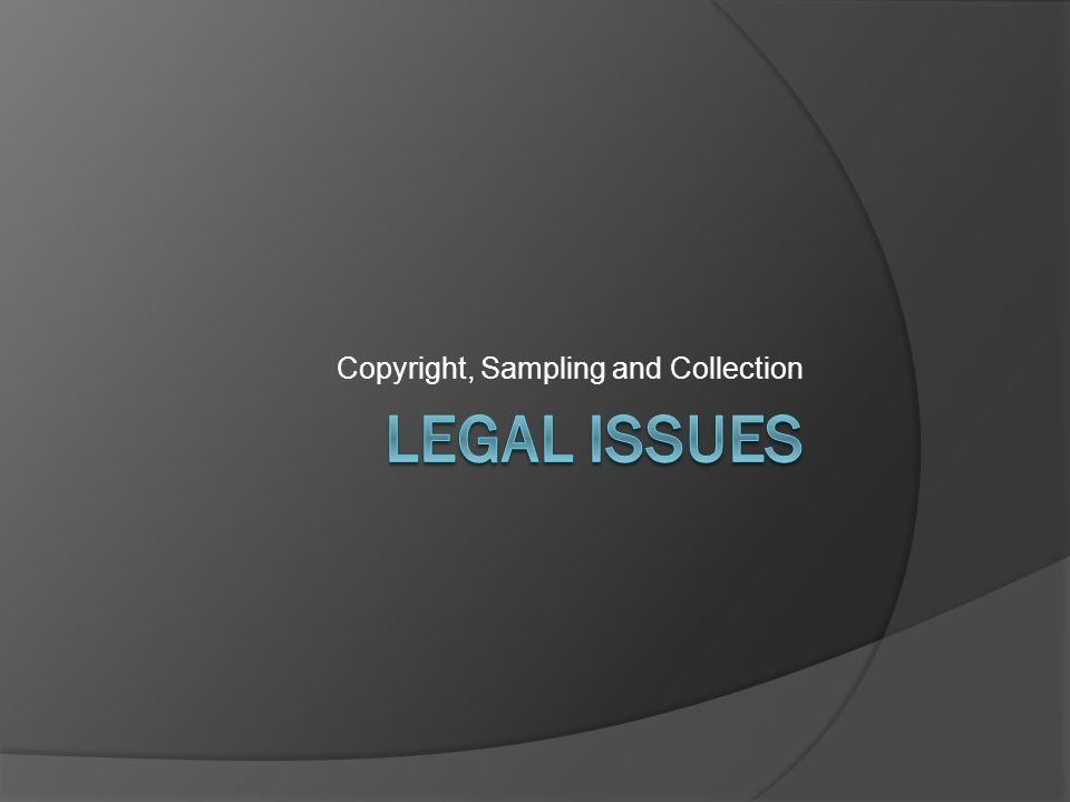 Copyright, Sampling and Collection