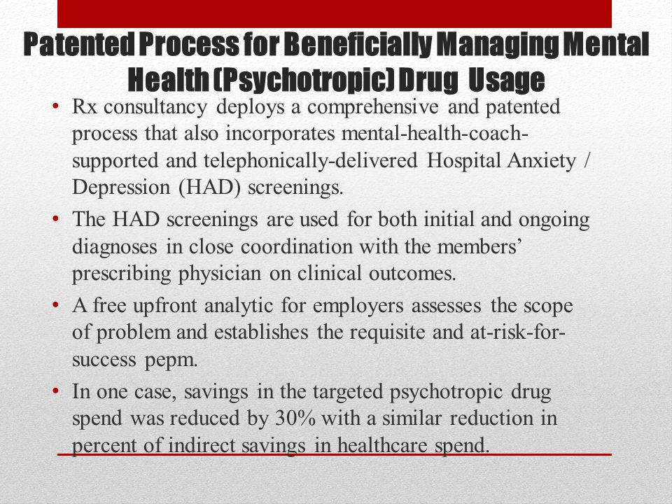 The Research Only 12.7% of individuals seeking mental health treatment in the general medical setting received minimally adequate care compared to 43.9% of patients treated in the specialty mental health sector Of 74 (short-term) studies on antidepressants registered with the FDA, 38 reported a positive outcome and 36 reported a negative outcome (Which do you think were published for peer review?) 38% of the patients properly enrolled in the largest trial ever remitted during one of the four stages of drug treatment.