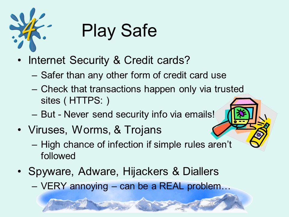 Internet Security & Credit cards.