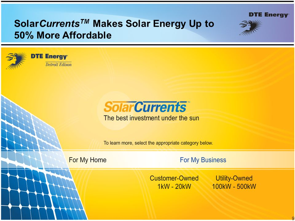 SolarCurrents TM Makes Solar Energy Up to 50% More Affordable 9