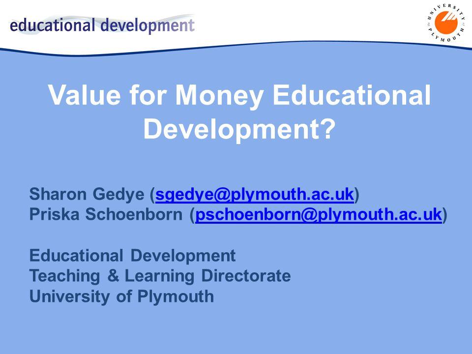 Value for Money Educational Development.