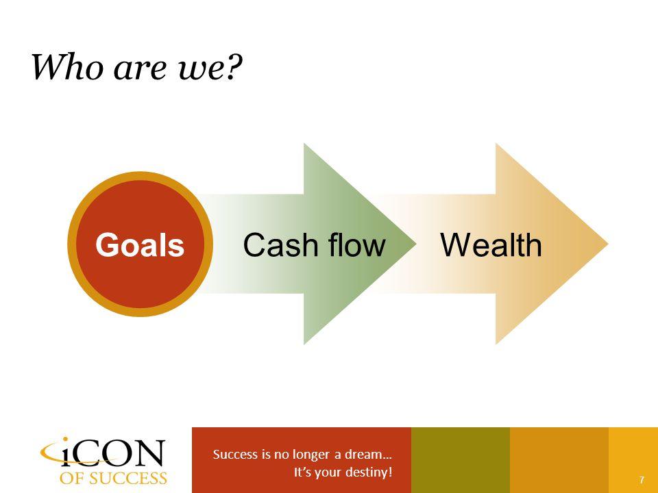 Success is no longer a dream… It's your destiny! 7 Goals Cash flowWealth Who are we