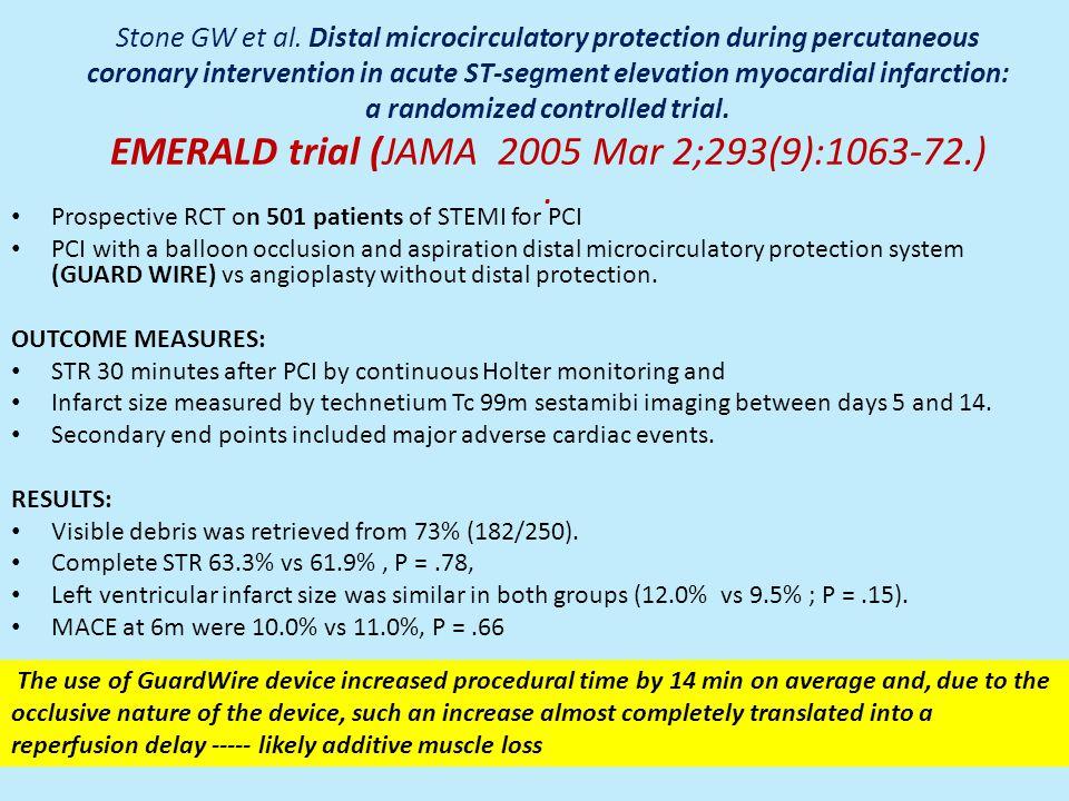 Stone GW et al. Distal microcirculatory protection during percutaneous coronary intervention in acute ST-segment elevation myocardial infarction: a ra