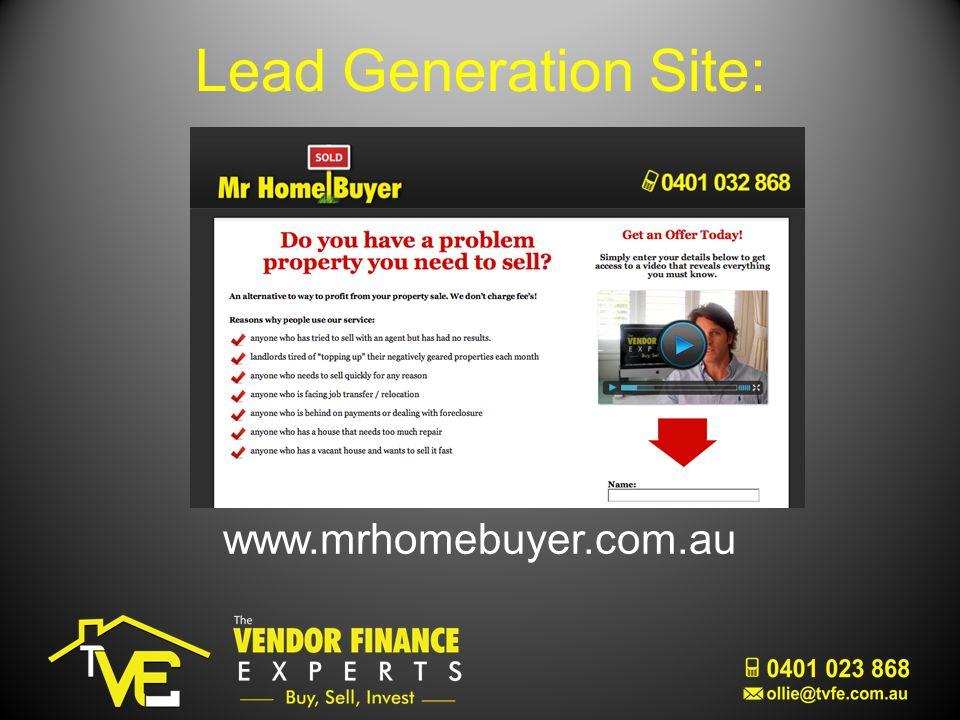 Lead Generation Site: www.mrhomebuyer.com.au