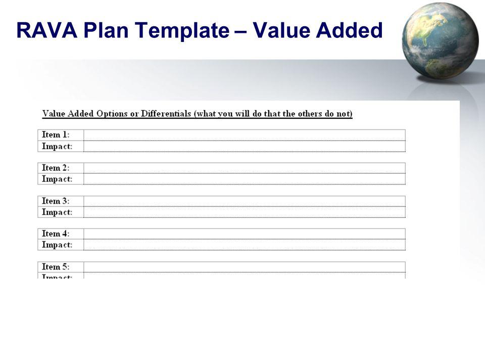 RAVA Plan Template – Value Added