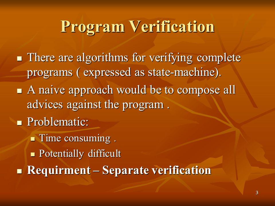 4 Separate verification - Problem setup Interface generated at the program developer side.
