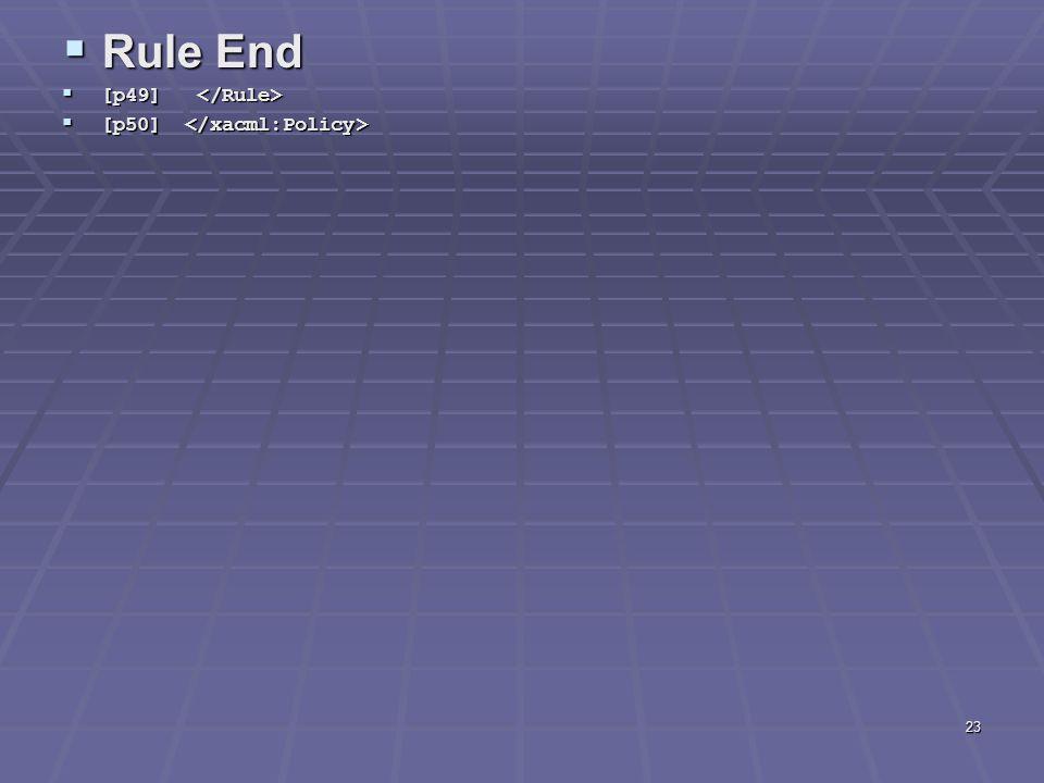 23  Rule End  [p49]  [p49]  [p50]  [p50]