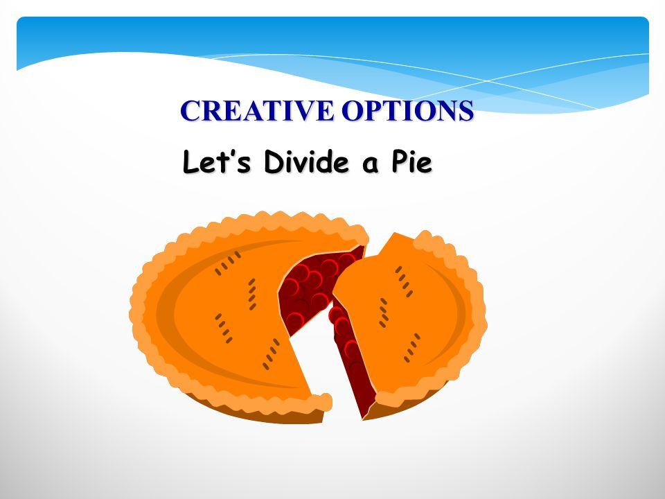 Let's Divide a Pie CREATIVE OPTIONS