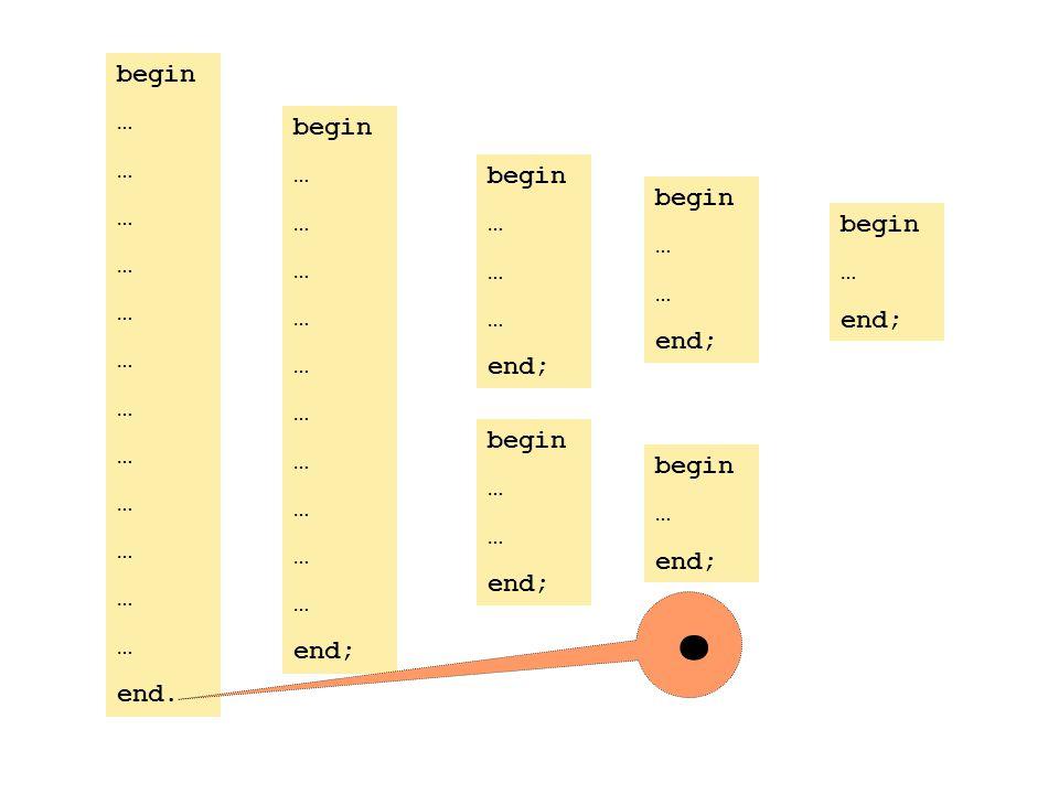 begin … end; begin … end; begin … end; begin … end; begin … end; begin … end.. begin … end;