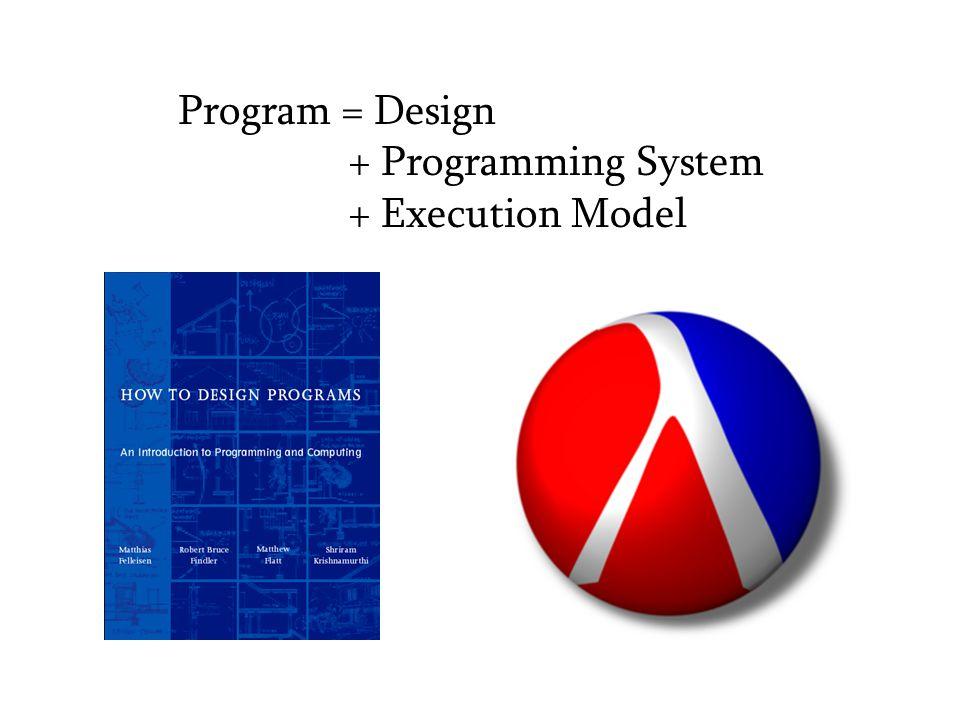 Program = Design + Programming System + Execution Model