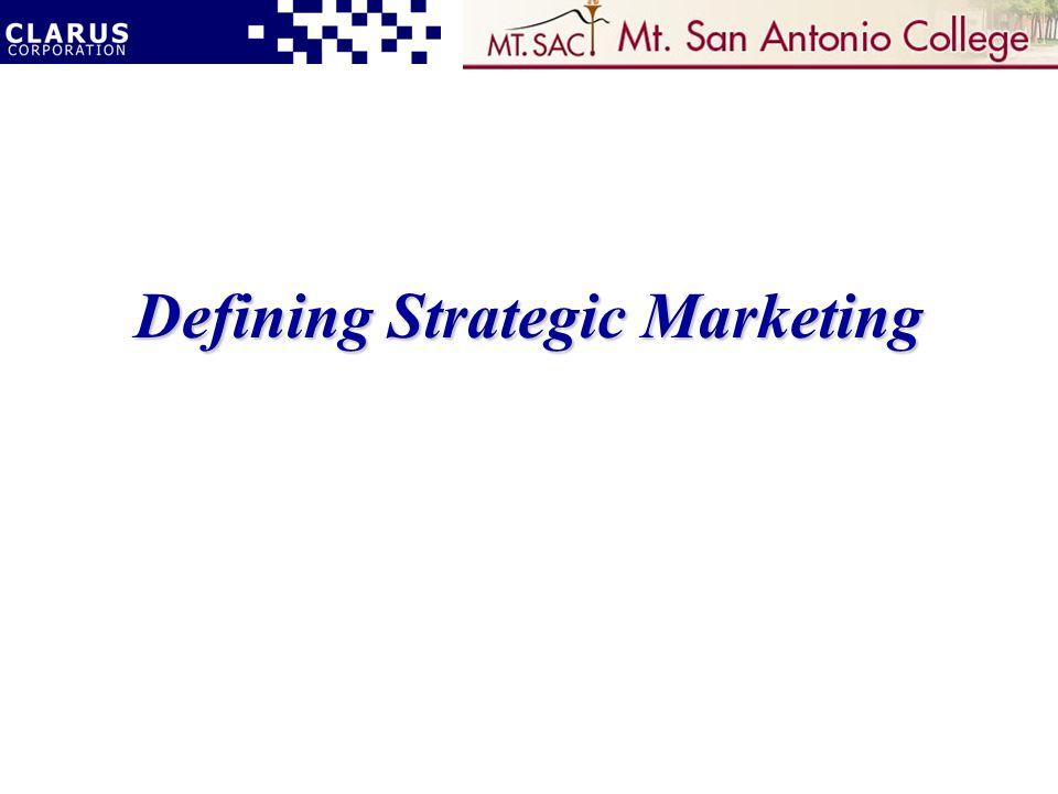 Defining Strategic Marketing
