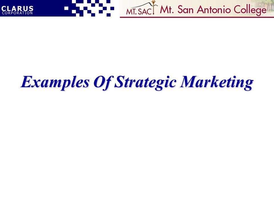 Examples Of Strategic Marketing