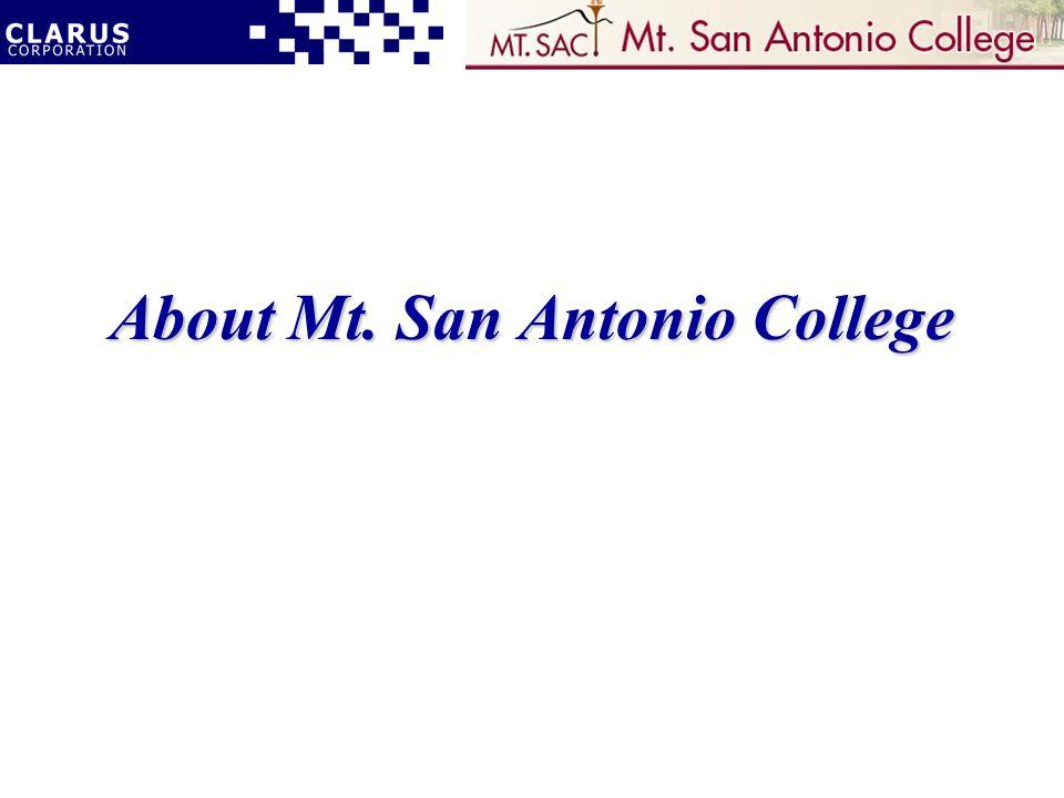 About Mt. San Antonio College