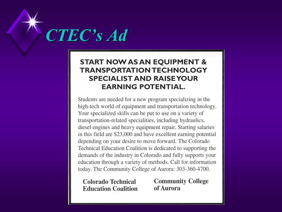 CTEC's Ad