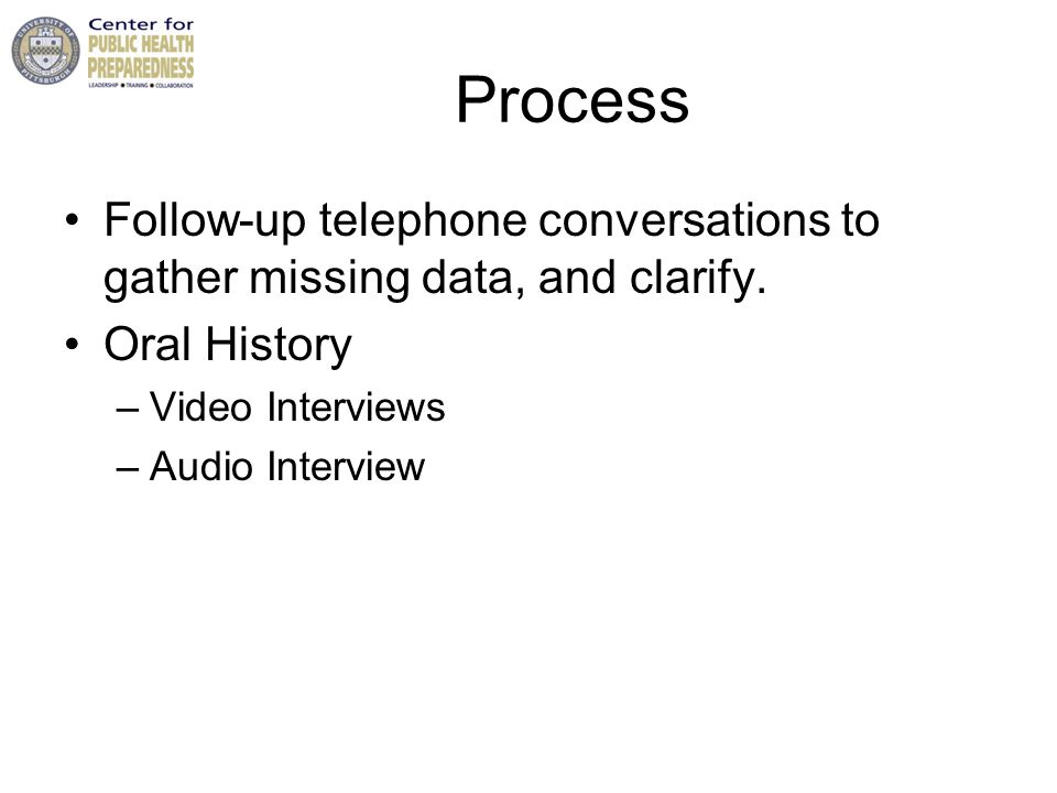 Process Follow-up telephone conversations to gather missing data, and clarify.
