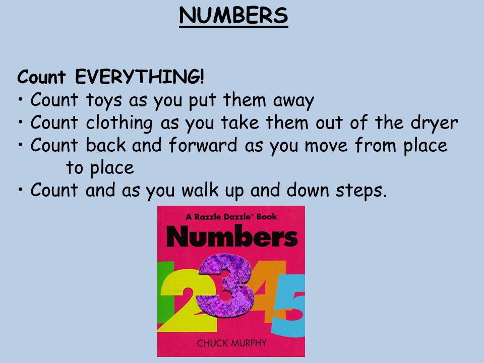 NUMBERS Count EVERYTHING.