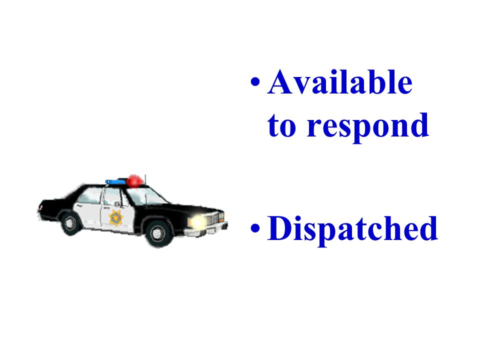 Working on Response Time More officers on the street Use of geographic areas Coverage during high call load Prioritizing calls