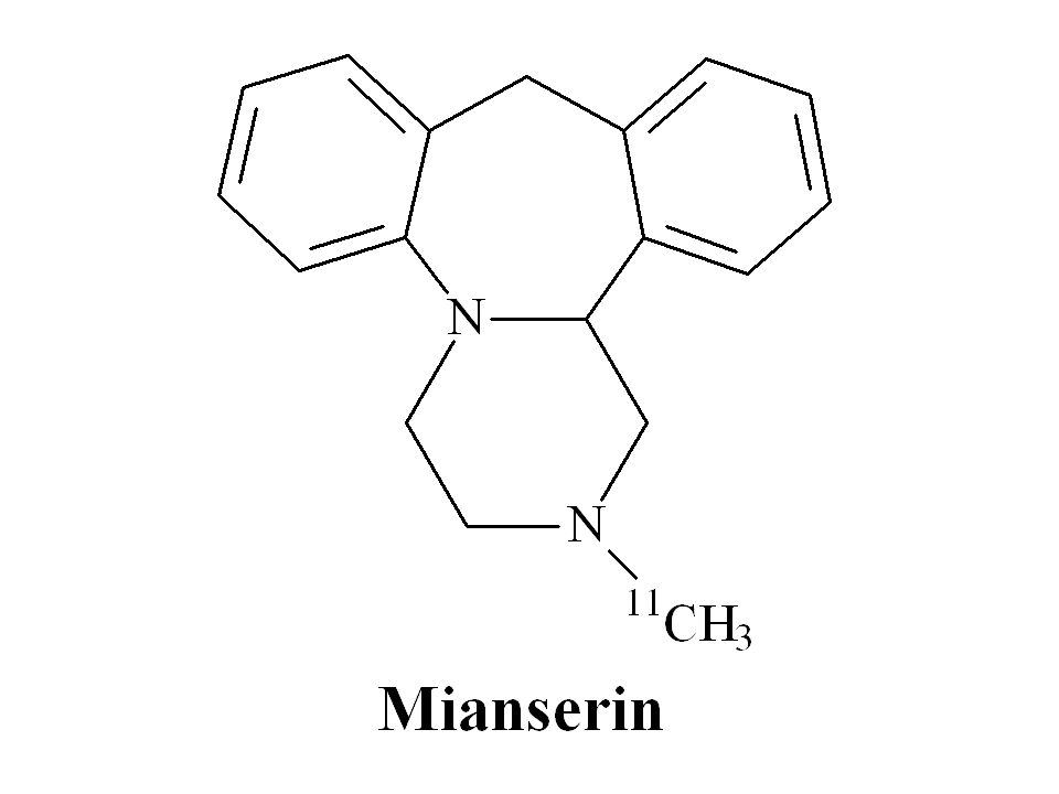 Atypical antidepressants can bind to adrenergic receptors e.g. [ 11 C]mianserin