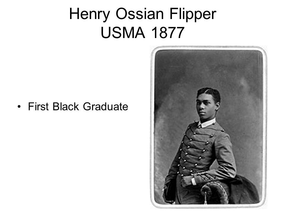 Henry Ossian Flipper USMA 1877 First Black Graduate