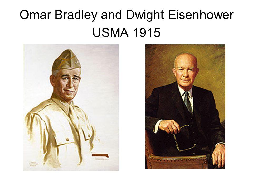 Omar Bradley and Dwight Eisenhower USMA 1915