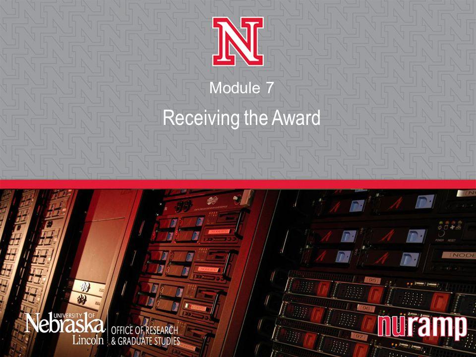 Receiving the Award Module 7