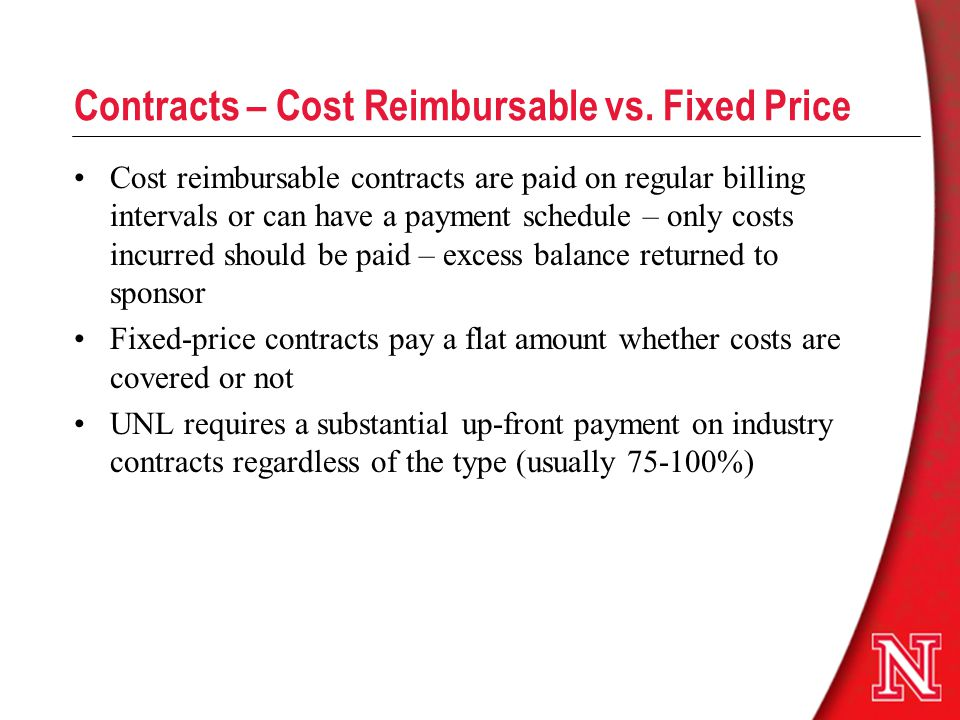 Contracts – Cost Reimbursable vs.