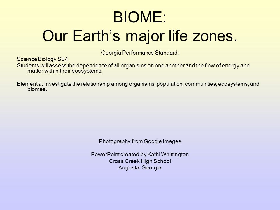 Biome Quiz What are some things you would find in an Artic Biome?