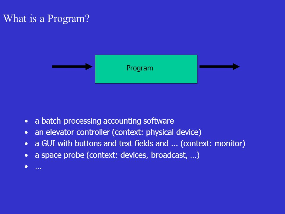 What is a Program.