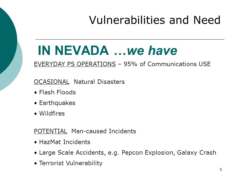 46 Nevada Communication Interoperability Plan Existing Plan Overview - CONTENTS  Governance  Standard Operating Procedures (SOPs)  Technology  Training and Exercise