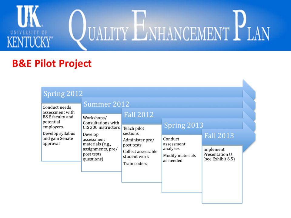 B&E Pilot Project
