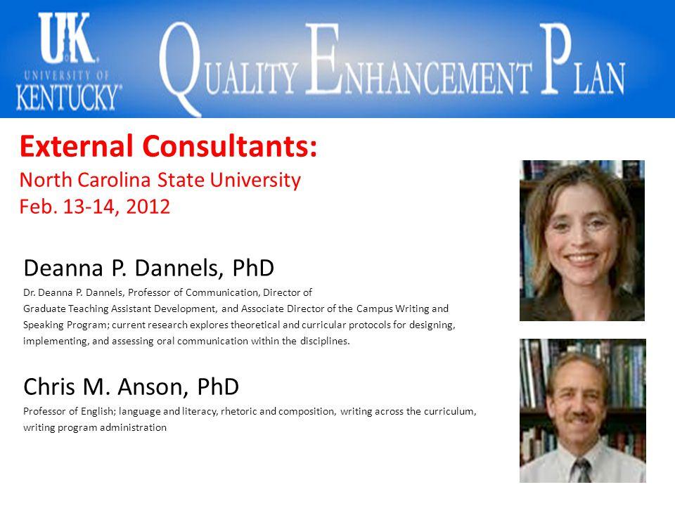 External Consultants: North Carolina State University Feb.